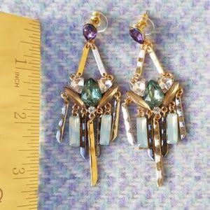 Vintage Inspired Colorfull Gemstone Earings
